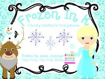Frozen In K-  5 Reading Activities for Kindergartners