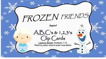 Frozen Inspired Alphabet & Numbers Clip Cards