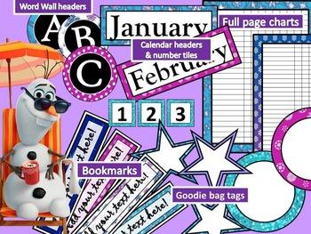 Frozen Inspired Decor Kit - Classroom, Homeschool, Fun Thi