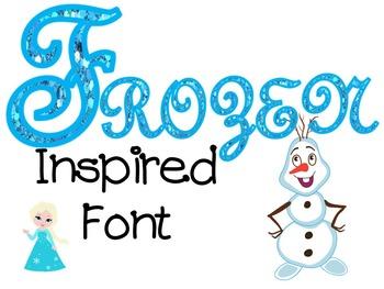Frozen Inspired Font