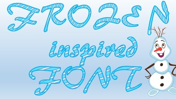 Frozen Inspired diagonal font - for personal and commercial use