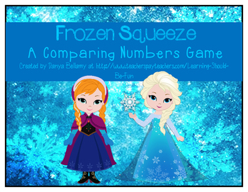 Frozen Squeeze:  A Comparing Numbers Game with Frozen Characters