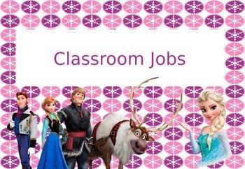 Frozen Themed Job Chart
