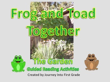Frog and Toad Together The Garden Guided Reading Activitie