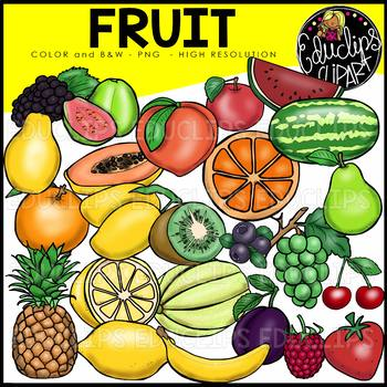 Fruit Clip Art Bundle {Educlips Clipart}