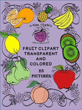 Fruit Clipart {Color and Transparent}  Cute pics and frames
