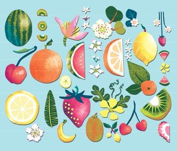 Fruit Clipart, Tropical Fruit Clip Art, Fruit Clip Art