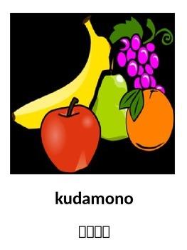 Fruit Flashcards in Japanese