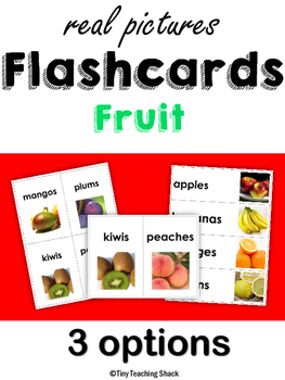 Fruit Flashcards with Real Photos (singular and plural)