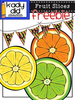 Fruit Freebie {by Kady Did Doodles} 4 Color images