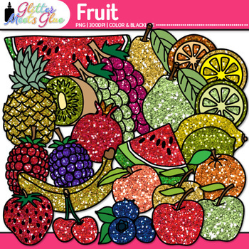 Fruit Clip Art {Food Groups & Nutrition Graphics for Works