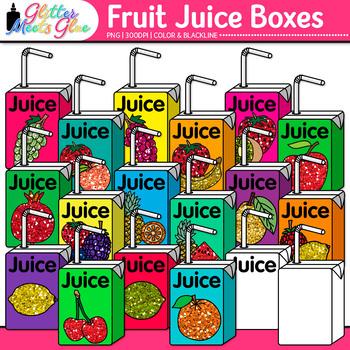 Fruit Juice Boxes Clip Art {Food Groups & Nutrition Graphi