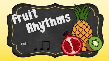 Fruit Rhythms Mega Bundle (Levels 1-4 with Flashcards)