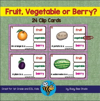 ESL VOCABULARY GAME: Fruit, Vegetable or Berry?