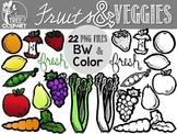 Fruit & Veggie Clipart Set {FREEBIE}