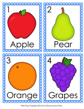 Fruit Write the Room Activity