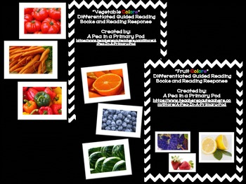 """""""Fruit and Vegetable Colors"""" Guided Reading and """"Color Wor"""