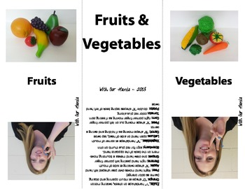 Fruit and Vegetable Sign Language (ASL) Cards