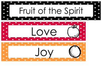 Fruit of the Spirit Bulletin Board Set Preschool-Kindergar