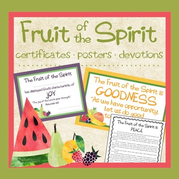 Fruit of the Spirit Bundle:  Awards, Posters, Devotions