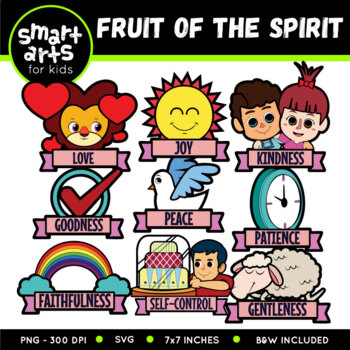 Fruit of the Spirit Digital Clipart - Galatians 5:22-23