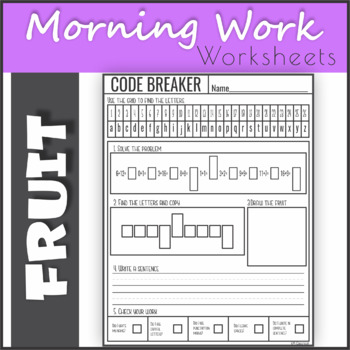 Addition up to 26 with Fruits - Code Breaker