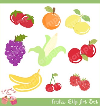 Fruits Clipart Set