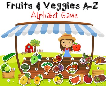 Fruits & Vegetables Alphabet Matching Game A-Z
