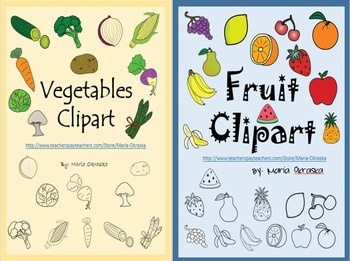 Fruits and Vegetables Clipart (Value Pack)