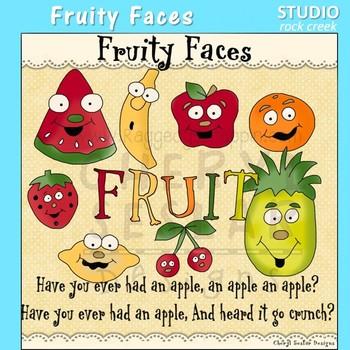 Fruity Faces Clip Art C Seslar