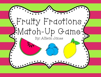 Fruity Fractions Matching Game