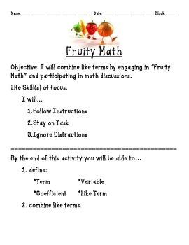 Fruity Math