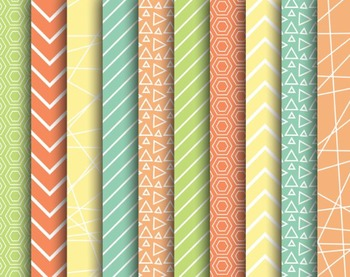 Fruity Mix Papers, Digital Papers, Mix Paper Set #046
