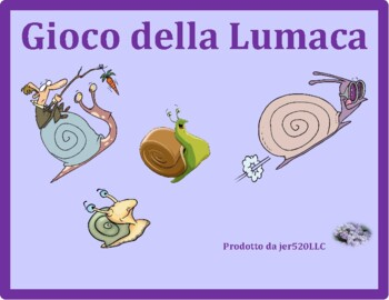 Frutta e Verdura (Fruits and Vegetables in Italian) Lumaca