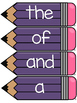 Fry 100 Word Wall Sight Word Cards- Purple