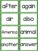 Fry 2nd 100 Sight Words #101-200 - Word Wall Cards - GREEN