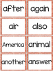 Fry 2nd 100 Sight Words #101-200 - Word Wall Cards - ORANG