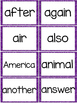 Fry 2nd 100 Sight Words #101-200 - Word Wall Cards - PURPL