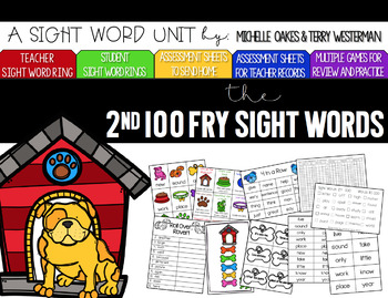 Fry 2nd 100 Words Sight Word Pack