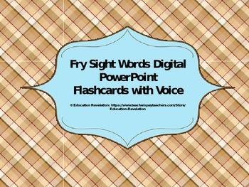 Fry Digital Sight Word PowerPoint Flashcards (Fry Words 90