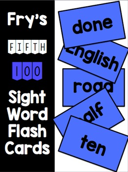 Fry Fifth 100 Flash Cards & Data Sheets