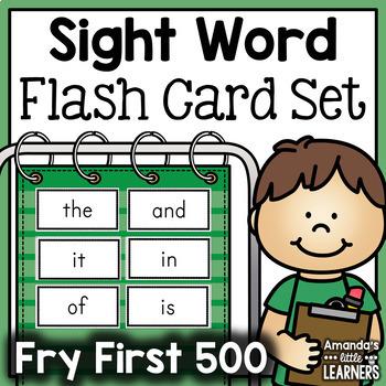 Fry First 500 Flash Card Set