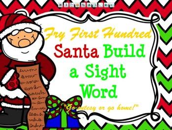 Fry First Hundred Santa Build a Sight Word
