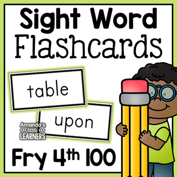 Fry Fourth Hundred Sight Word Flash Cards
