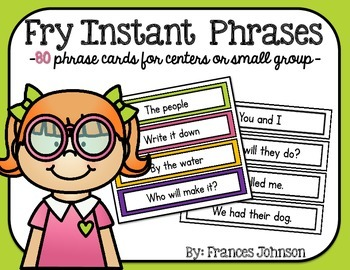Fry Instant Phrase Cards