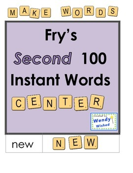 Fry Instant Words Second 100 Center Word Work