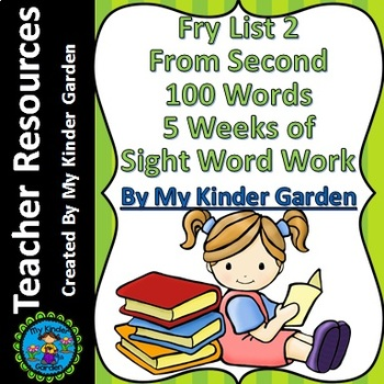 Fry List 2 from Second 100 Words 5 Weeks of Sight Word Work