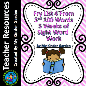 Fry List 4 from Third 100 Words 5 Weeks of Sight Word Work