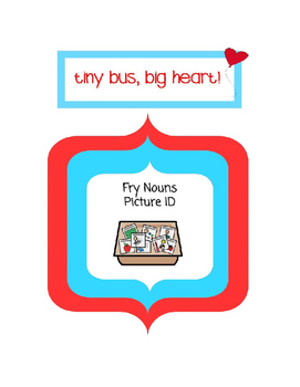 Fry Nouns Picture Supports and Documentation/Data sheet