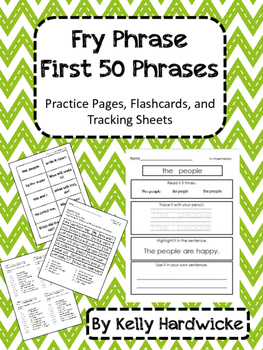 Fry Phrase Practice:  List 1 1-50 Packet to Build Reading Fluency